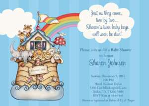 NOAHS ARK BABY SHOWER INVITATION U PRINT FAST