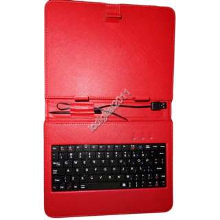Red/Pink Leather Case of usb Keyboard for 8 inch MID Tablet PC