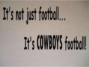 Dallas Cowboys Football Vinyl Wall Decal Sticker