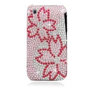Large Pink Cherry Blossom With Full Rhinestones Hard