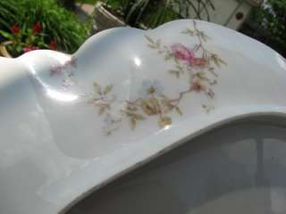 ANTIQUE HAVILAND LIMOGES ROSE FLORAL PLATTER 15 1/2