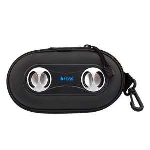 iKross Portable Amplified Stereo Speaker Case (Black) for