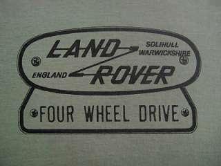 LAND ROVER FOUR WHEEL DRIVE LOGO T SHIRT   Two colours S M L XL XXL