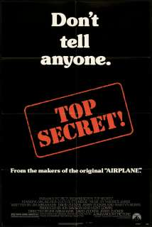Top Secret 1984 Original U.S. One Sheet Movie Poster