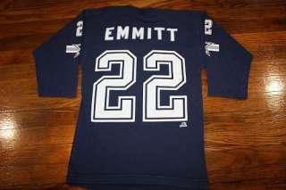 XS * vtg 90s EMMITT SMITH Dallas Cowboys v neck t shirt * jersey style