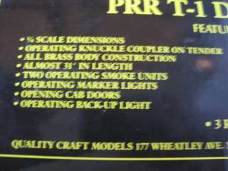 WEAVER BRASS O SCALE 3 RAIL PRR T 1 DUPLEX #5533   #293 of 750 LTD ED