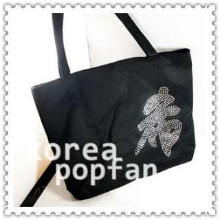 SJ SUPER JUNIOR KPOP HEECHUL BLACK CANVAS BAG NEW