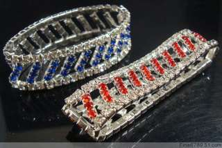 Wholesale 12Pcs Friendship Crystal Rhinestone Bracelets