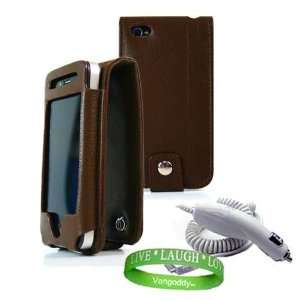 Apple iPhone 4 leather Case Accessories Kit BROWN Melrose