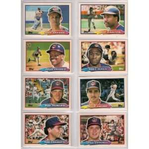 Set (Cory Snyder) (Julio Franco) (Pat Tabler) (Tom Candiotti) (Joe