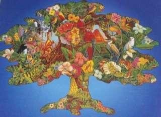 Bits & Pieces THE WILD TROPICS Tree Shaped 600 Piece Jigsaw Puzzle