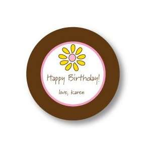 Polka Dot Pear Design   Round Stickers (Special Flower
