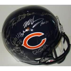 1985 Super Bowl Bears Team 10 SIGNED F/S Bears Helmet