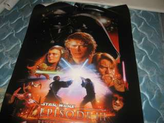 STAR WARS REVENGE OF THE SITH 27X40 MOVIE POSTER SIGNED BY DREW