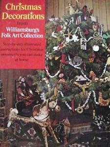 Folk Art Christmas Decoration Pattern Book Williamsburg |