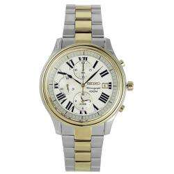 Seiko Mens Two tone Stainless Steel Chronograph Watch