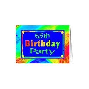 65th Birthday Party Invitations Bright Lights Card: Toys & Games
