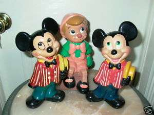Walt Disney Mickey Mouse Pinocchio Ceramic Figurines