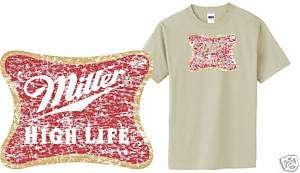 Miller High Life Beer t shirt party retro bar S M L XL