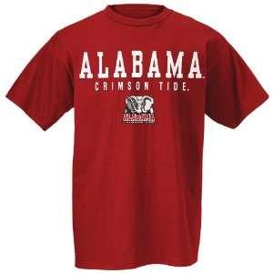 Alabama Crimson Tide Crimson Collegiate Big Name T shirt