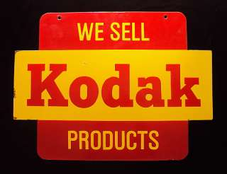 KODAK FILM Double Sided Vintage Porcelain Enamel Sign