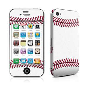 iPhone 4 Skin Cover Case Decal Faceplate Baseball White