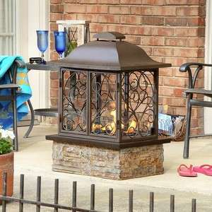 NEW Portable Indoor Outdoor Gel Fuel Fireplace