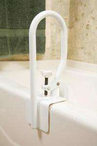 Bathtub Rail Safety Grab Bar Carex White Bathroom Shower Handle Tub