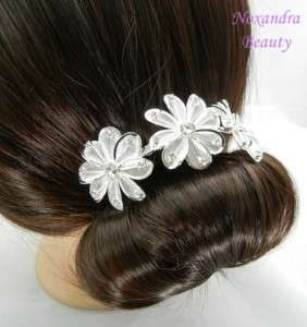 90mm Bridal Party Crystal RS Floral Hair Comb P3495