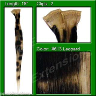 Platinum Leopard Clip In Hair Extensions highlight