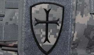 Crusaders Templar Knights Order Shield ACU Patch velcro