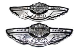 2003 Harley Davidson FL Touring 100th Anniversary Gas Tank Emblems