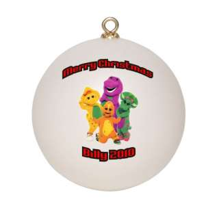 Personalized Barney & Friends Christmas Ornament