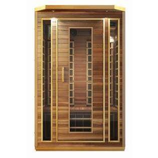 HEALTHandMED Cedar 2 Person Carbon Heater Far Infrared Sauna at