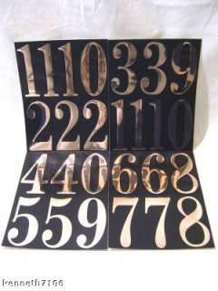 Number Self Stick Gold Black Boat Car house Trailer Mailbox 26 Numbers