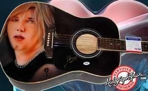 Goo Goo Dolls Autographed Signed Airbrush Guitar & Proof PSA UACC RD