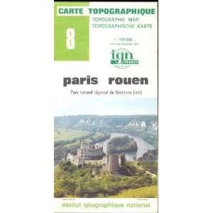 Map 8 France Paris Rouen Carte Topographique: none: Books