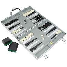 Deluxe Backgammon Board Game in Aluminum Case   Toys R Us