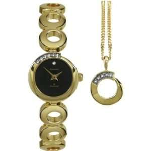Sekonda 4011G Ladies Crystal Watch And Necklace