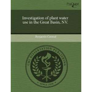 Investigation of plant water use in the Great Basin, NV