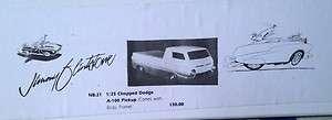 JIMNB21 Chopped Dodge A100 Pickup Truck Body 1/25 Jimmy