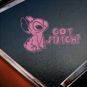 STITCH LILO Pink Decal Car Truck Bumper Window Pink