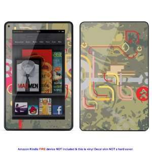 Skin sticker for  Kindle Fire case cover Kfire 446 Electronics