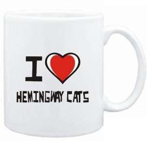 Mug White I love Hemingway Cats  Cats