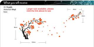 Magnolia Flower & Tree Wall Art Stickers / Wall Decals