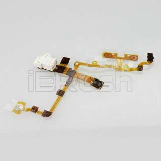 Headphone Jack Earphone Jack Power Volume Switch Flex Cable For iPhone