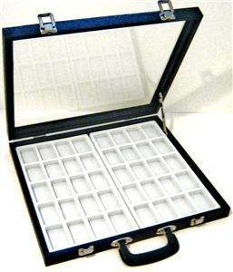 Large 40 Zippo Lighter Display Storage Glass Top Case