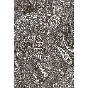 Paisley Print Espresso by F Schumacher Wallpaper: Home