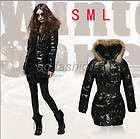 FASHION WOMENS WINTER STYLISH LONG DOWN JACKET LADYS HOODED COAT