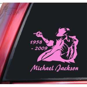 Michael Jackson 1958   2009 Vinyl Decal Sticker   Pink